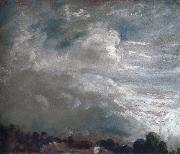 Cloud study,horizon of trees 27 September 1821 John Constable