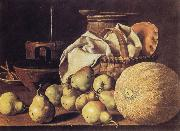 Still Life with Melon and Pears MELeNDEZ, Luis