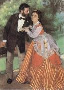 The Painter Sisley and his Wife renoir