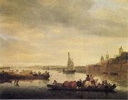 The Crossing at Nimwegen Saloman van Ruysdael