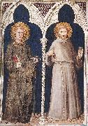 St Anthony and St Francis Simone Martini