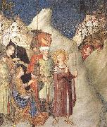 Saint Martin Renounces his Weapons Simone Martini