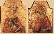 St Catherine and St Lucy Simone Martini