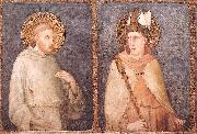 t Francis and St Louis of Toulouse Simone Martini
