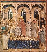 Burial of St Martin Simone Martini
