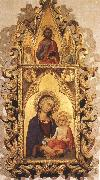 Madonna and Child with Angels and the Saviour Simone Martini