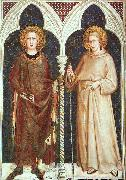St Louis of France and St Louis of Toulouse Simone Martini