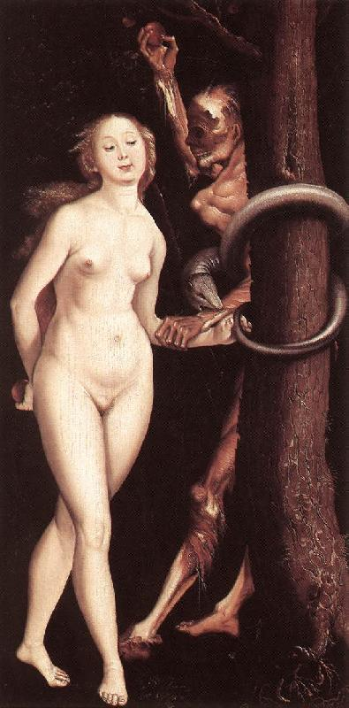 BALDUNG GRIEN, Hans Eve, the Serpent, and Death