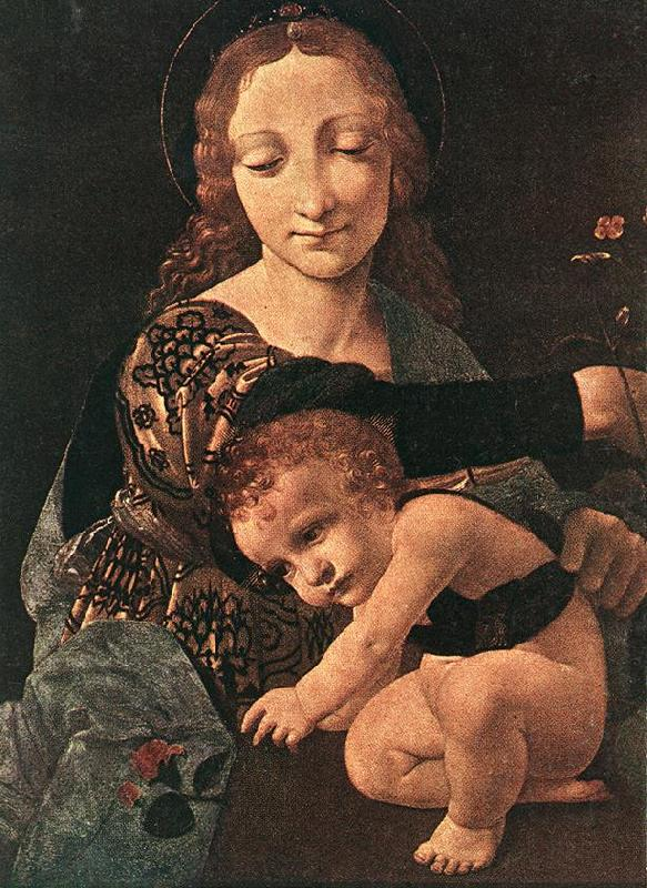 BOLTRAFFIO, Giovanni Antonio Virgin and Child with a Flower Vase (detail)