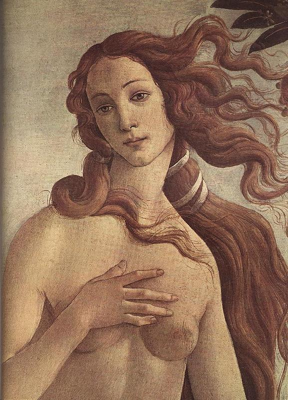 BOTTICELLI, Sandro The Birth of Venus (detail) ff