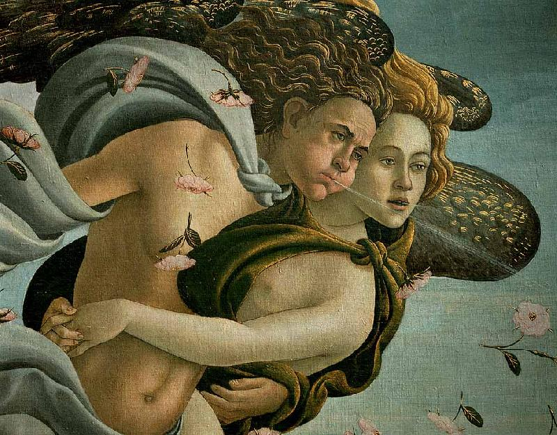 BOTTICELLI, Sandro The Birth of Venus (detail) dsfds