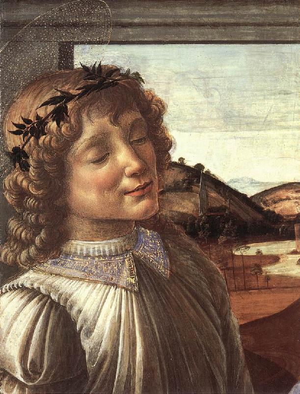 BOTTICELLI, Sandro Madonna and Child with an Angel (detail)  fghfgh