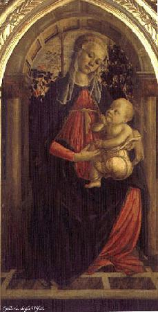 BOTTICELLI, Sandro Madonna of the Rosengarden fhg