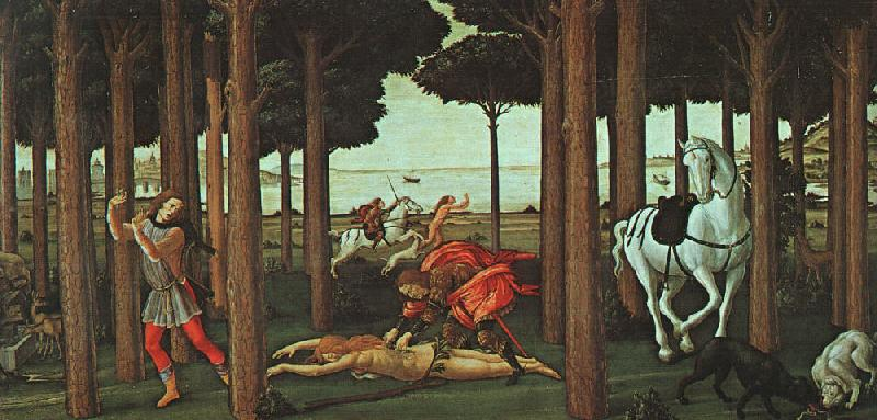 BOTTICELLI, Sandro The Story of Nastagio degli Onesti (second episode) gfhgf