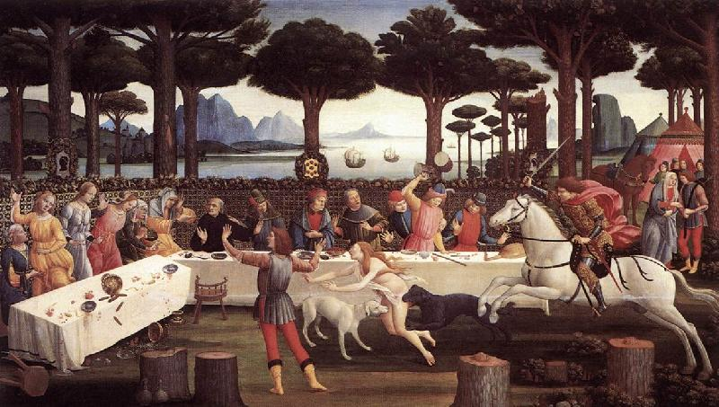 BOTTICELLI, Sandro The Story of Nastagio degli Onesti (third episode) fdgfd