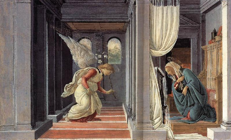 BOTTICELLI, Sandro The Annunciation fd
