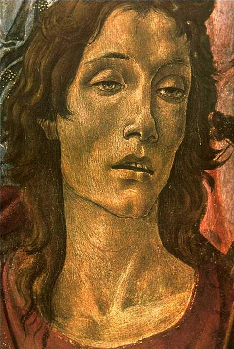 BOTTICELLI, Sandro San Barnaba Altarpiece (detail: head of St John) gdfg