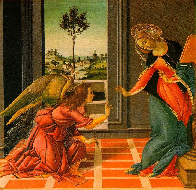 BOTTICELLI, Sandro The Cestello Annunciation dfg