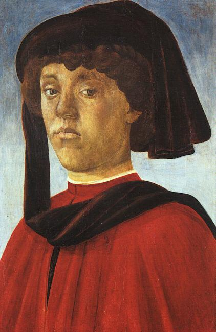 BOTTICELLI, Sandro Portrait of a Young Man fddg