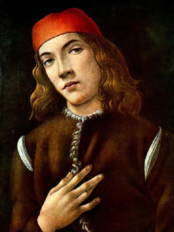 BOTTICELLI, Sandro Portrait of a Young Man  fdgdf