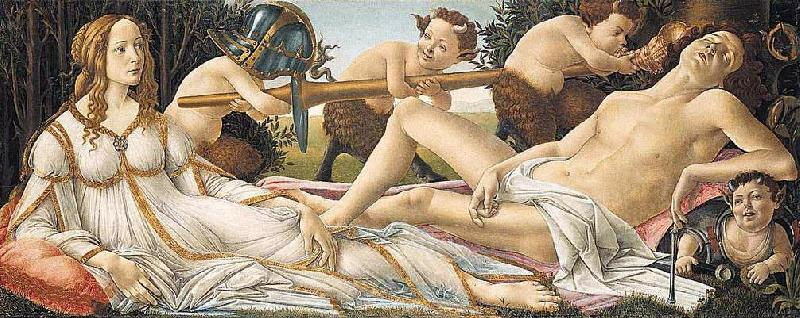 BOTTICELLI, Sandro Venus and Mars fg