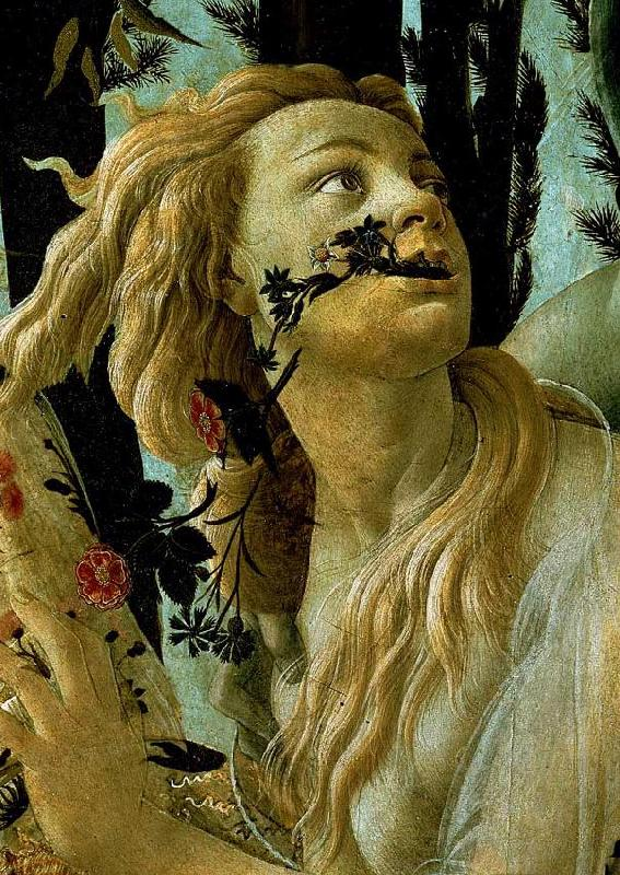 BOTTICELLI, Sandro La Primavera, Allegory of Spring (detail)