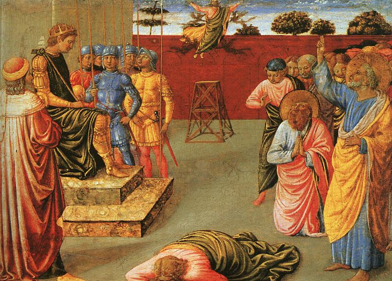 Benozzo Gozzoli The Fall of Simon Magus