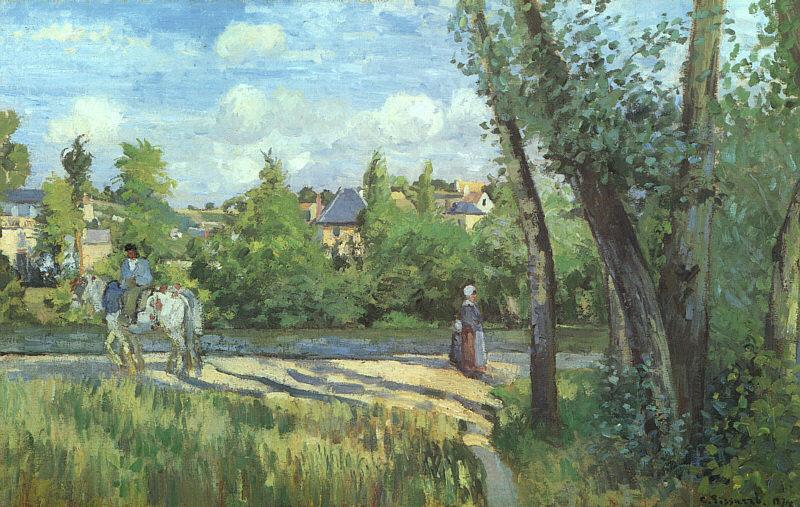 Camille Pissaro Sunlight on the Road, Pontoise