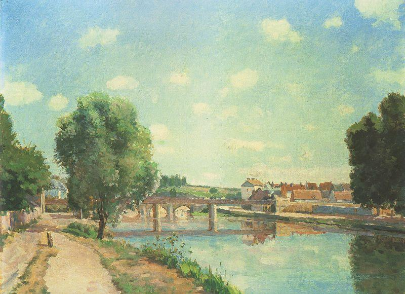 Camille Pissaro The Railway Bridge, Pontoise