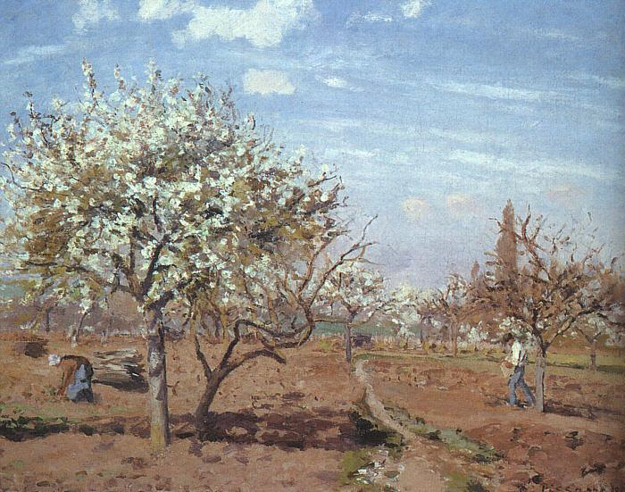 Camille Pissaro Orchard in Bloom at Louveciennes