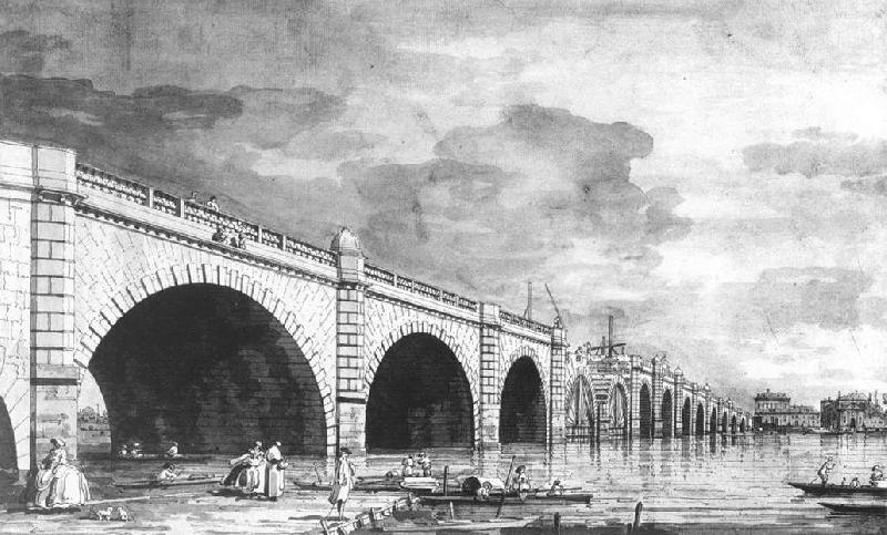 Canaletto London: Westminster Bridge under Repair vv