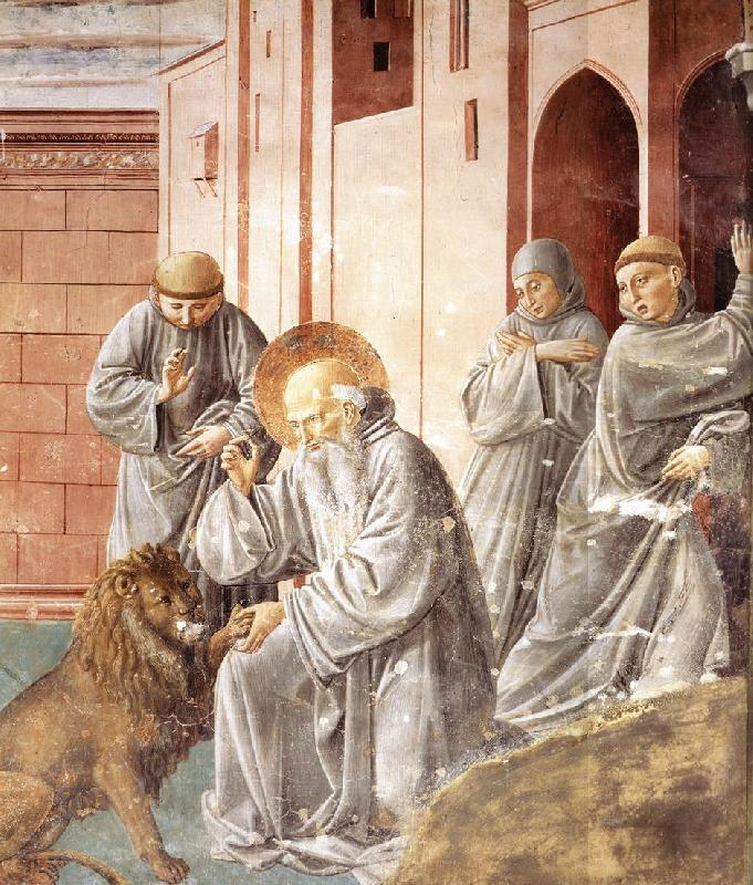 GOZZOLI, Benozzo St Jerome Pulling a Thorn from a Lion's Paw sd
