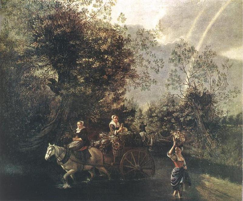 Jan Siberechts Crossing a Creek