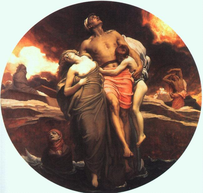 Lord Frederic Leighton And the Sea Gave Up the Dead Which Were in It