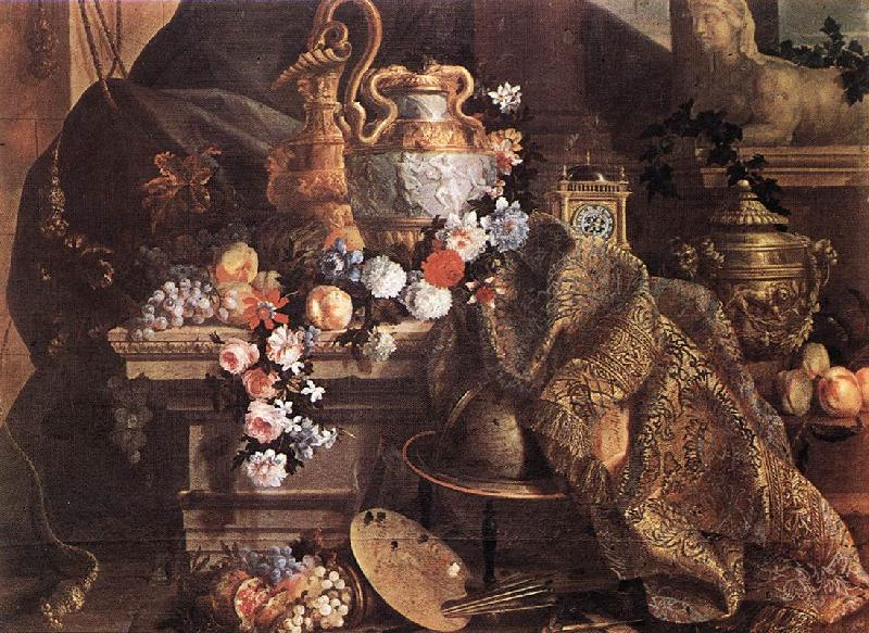 MONNOYER, Jean-Baptiste Still-Life of Flowers and Fruits