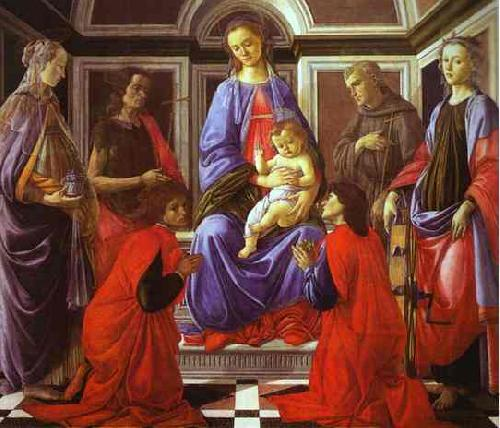 Sandro Botticelli Madonna and Child with Six Saints