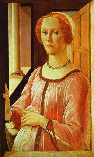 Sandro Botticelli Portrait of a Lady