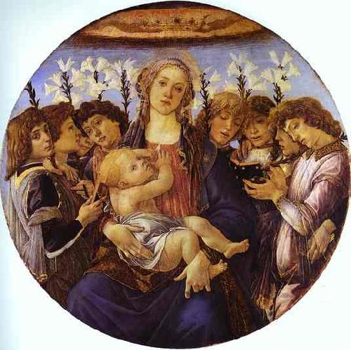 Sandro Botticelli Madonna and Child with Eight Angels
