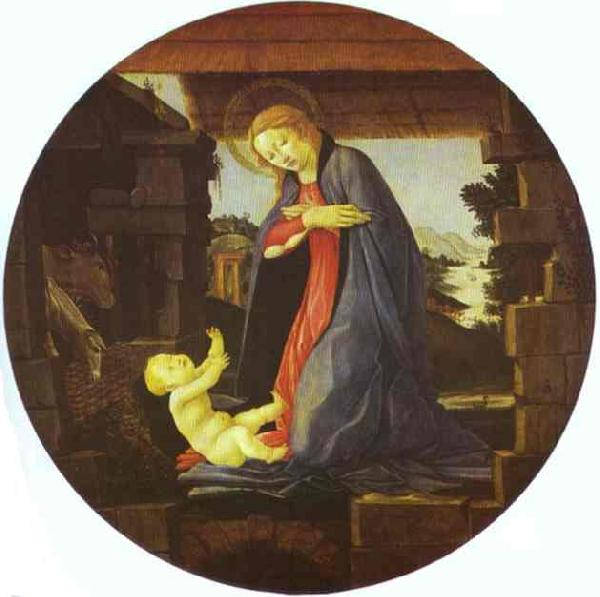 Sandro Botticelli The Virgin Adoring Child
