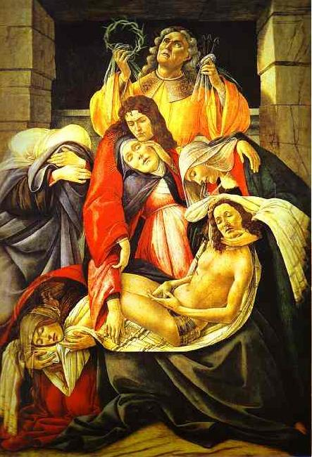 Sandro Botticelli Lamentation over Dead Christ