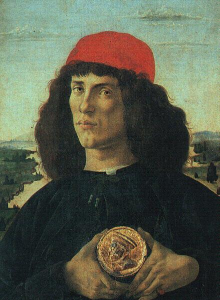 Sandro Botticelli Portrait of a Man with a Medal