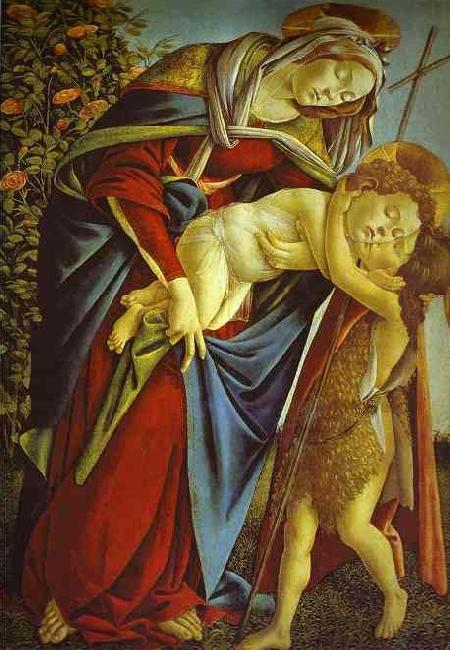 Sandro Botticelli Madonna and Child and the young St. John the Baptist