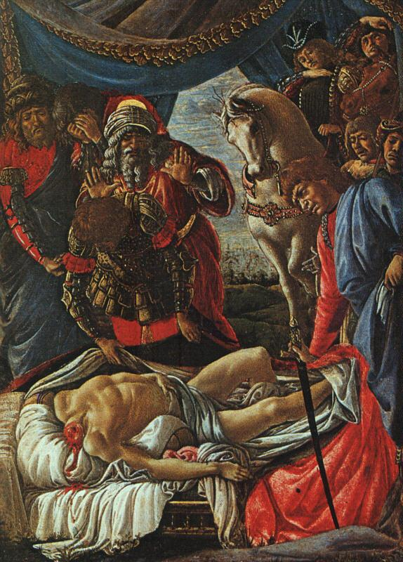 Sandro Botticelli The Discovery of the Body of Holofernes