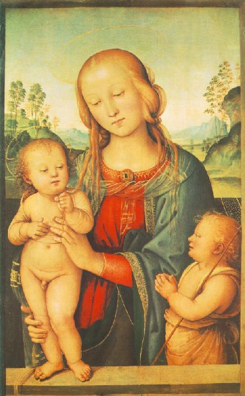 PERUGINO, Pietro Madonna with Child and Little St John a