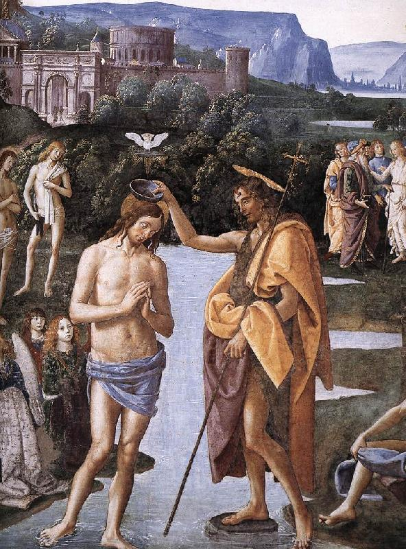PERUGINO, Pietro Baptism of Christ (detail) a