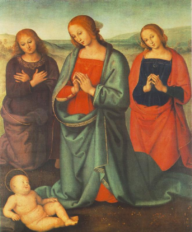 PERUGINO, Pietro Madonna with Saints Adoring the Child a