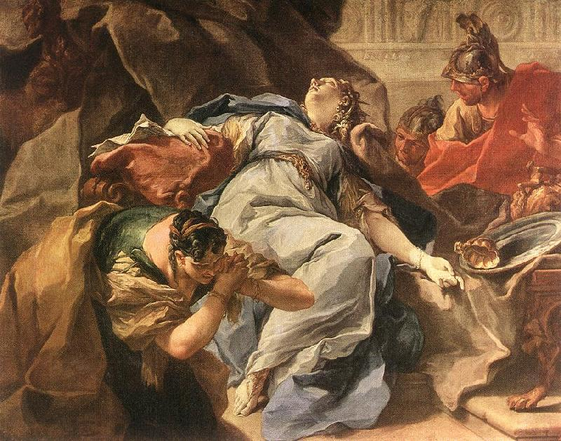 PITTONI, Giambattista Death of Sophonisba g
