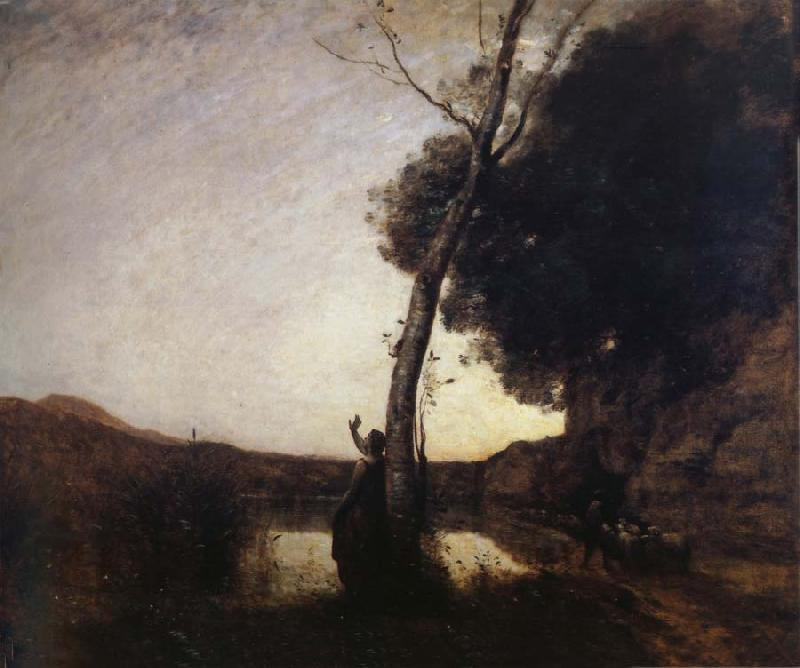 Corot Camille The morning star