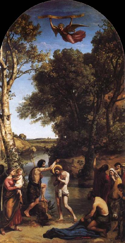 Corot Camille The Baptism of Christ