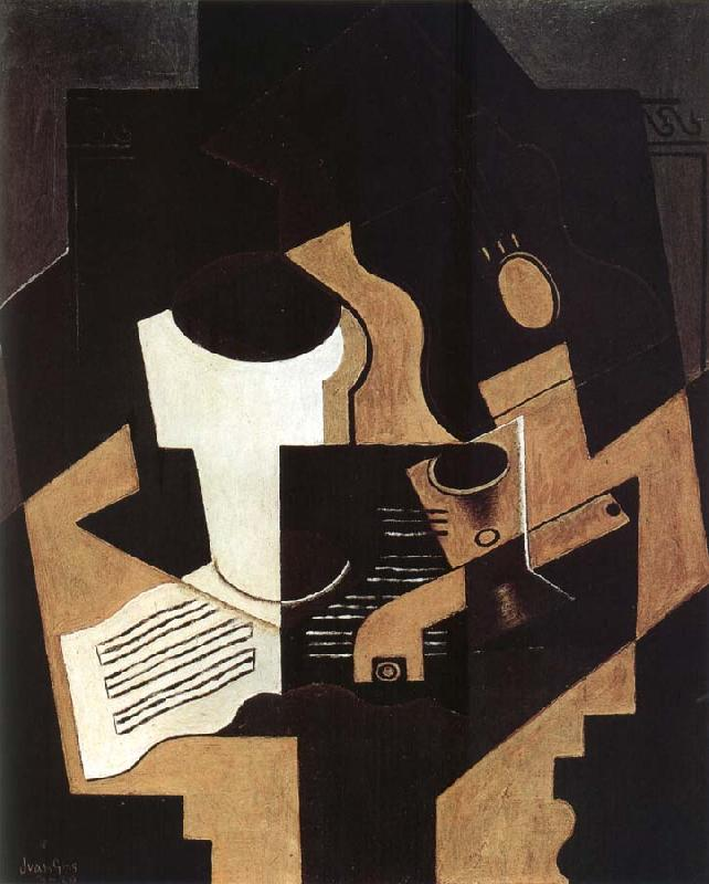 Juan Gris Guitar Pipe and Score